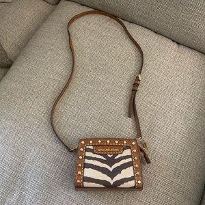 Michael Kora crossbody zebra print bag